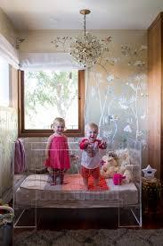 modern glam nursery lucite metallic childrens room lucite crib