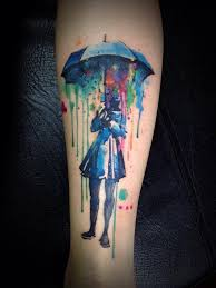 28 watercolor tattoos that are out of this world cool