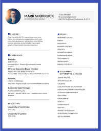 Best Resume Examples Executive by 50 Most Professional Editable Resume Templates For Jobseekers