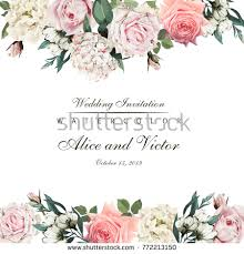 for wedding greeting card flowers watercolor can be stock vector 772213150