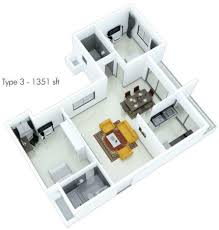 Waterscape Floor Plan 1379 Sq Ft 2 Bhk 2t Apartment For Sale In Fortius Waterscape Kr