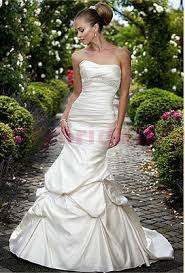 Wedding Dresses In The Uk Essense Of Australia Oyster Satin Strapless Fishtail Dress In Size