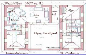 u shaped floor plans with courtyard u shaped house plans with courtyard in middle lovely exciting l
