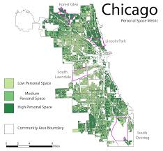City Of Chicago Map by Perdue