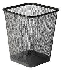 Waste Paper Bins Mesh Grey Silver Waste Paper Basket Square General Refuse Bin
