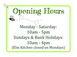opening times elm nursery