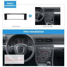 audi a4 2004 radio seicane 1 din in black car radio fascia plate panel for 2001