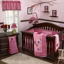 modern baby room vintage flower crib bedding wooden drawer