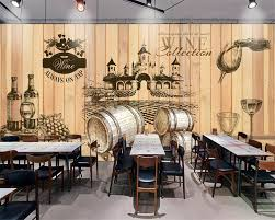compare prices on wood wall mural online shopping buy low price beibehang home decorative wallpaper vintage hand painted wine cellar wooden background photo wall mural 3d wallpaper