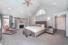 Crown Molding Vaulted Ceiling by Art Deco Master Bedroom With Metal Fireplace U0026 Cathedral Ceiling
