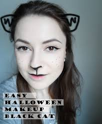 easy halloween makeup black cat january