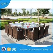 tavoli da giardino rattan rattan esterno mobili da giardino con tavolo da pranzo e 12 posti