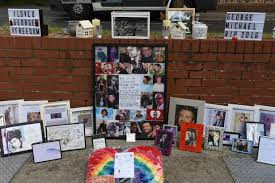 the incredible shrine outside george michael u0027s home six months