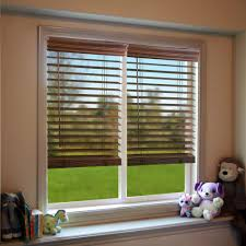 Home Decorators Collection Faux Wood Blinds Perfect Lift Window Treatment Dark Oak 2 In Cordless Faux Wood