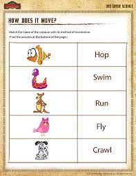 3rd grade science worksheets how does it move view 3rd grade