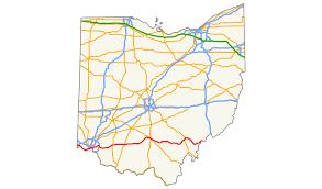 ohio on us map u s route 50 in ohio