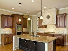 Kitchen Cabinet Island Design Ideas - Medium brown kitchen cabinets