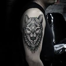 decorative guys geometric wolf arm s