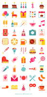 50 free birthday party icons flaticon flaticon pinterest