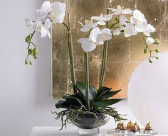 faux orchids orchids in a white lacquered bowl rtfact artificial silk