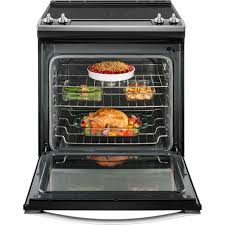 Glass In Toaster Oven 30 U2033 Whirlpool Glass Top Electric Slide In Range Stainless