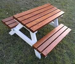childrens wooden picnic table benches childrens wooden picnic table livingonlight co