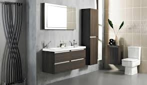 grey color wall mounted wooden vanity beige bathroom accessories