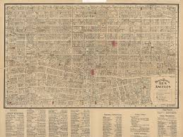 Los Angeles Downtown Map by Citydig Mystery Romance And Nite Coaches In 1930s L A Los