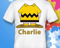 Charlie Brown Costume Charlie Brown Shirt Chuck Baby Tshirt Yellow Black Chuck