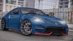 nissan 370z custom blue 370z z34 nismo for gta san andreas