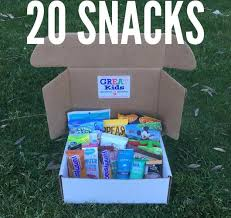snacks delivered 20 snacks delivered monthly great kids snack box