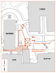 Syracuse University Map Su Ambulance Emergency Vehicle Parking Cover Construction Update