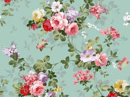 Flower Wallpaper Home Decor Wallpaper Esprit Home Non Woven Flowers Green Turquoise Idolza
