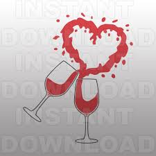 wine glass svg wine glasses svg filewine svg filewine heart svg cutting