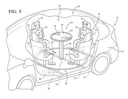 ford files patent for retractable table with airbag image 713665