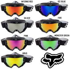 fox air space mx goggle mirror chrome motocross u0026 atv motorcycle eyewear ebay