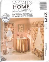 Curtain Patterns To Sew Oop Bathroom Essentials Sewing Pattern Mccall U0027s Simplicity Tub