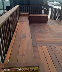 Clinton St IPE Wood Deck Carroll Gardens Brooklyn - Ipe outdoor furniture