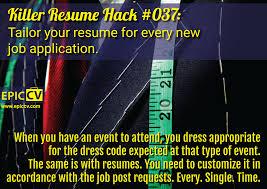Tailor Resume To Job by Killer Resume Hacks