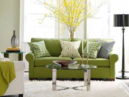 Two Seater Sofa Living Room Ideas Fantastic Green Living Room With Two Seater Cushions On
