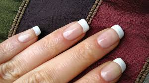 perfect french nails at home diy tutorial youtube