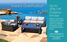 hayward u0027s 1890 outdoor patio furniture santa california
