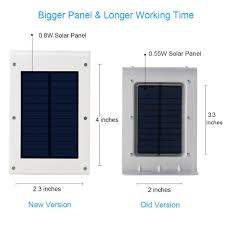 Solar Street Light Technical Specifications by Innogear Upgraded 24 Led Solar Lights Motion Sensor Wall Light