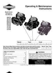 briggs straton 28n700 313700 manual throttle carburetor