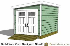 How To Build A Lean To Shed Plans by 8x14 Lean To Shed Plans Storage Shed Plans Icreatables Com
