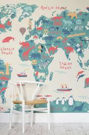 World Map Wallpaper by Explorer Kids World Map Mural Illustrated Maps Playrooms And Kids S