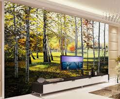 3d customized wallpapers promotion shop for promotional 3d custom 3d wallpaper birch forest tree forest painting background wall mural 3d wallpaper 3d customized wallpaper