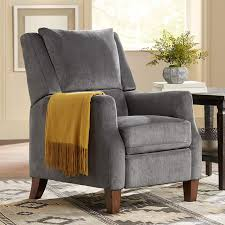 irina gray velvet recliner chair recliner chairs recliners and
