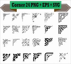 halloween border vector classic corner flowers vintage calligraphic border vector clipart