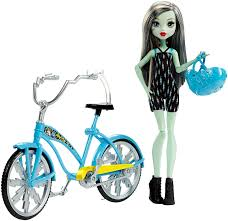 monster boltin u0027 bicycle frankie stein doll u0026 vehicle shop